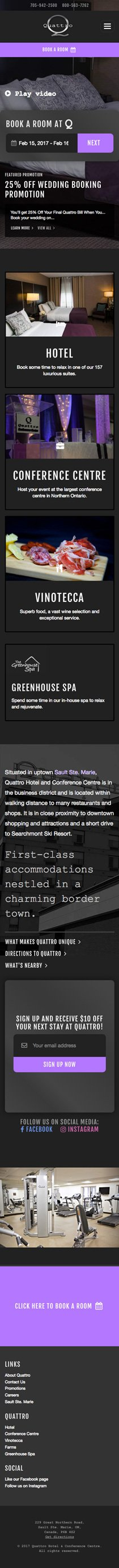 Quattro mobile-responsive website screenshot